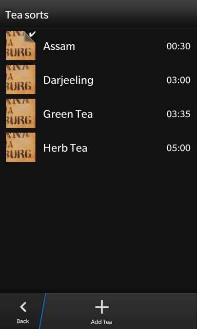 List of Teas