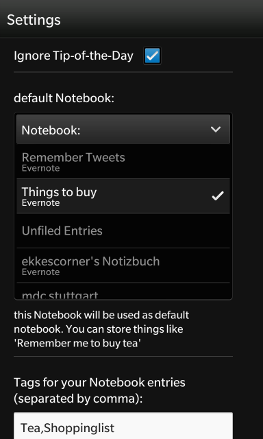 list of notebooks