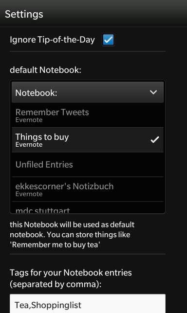 list of notebooks