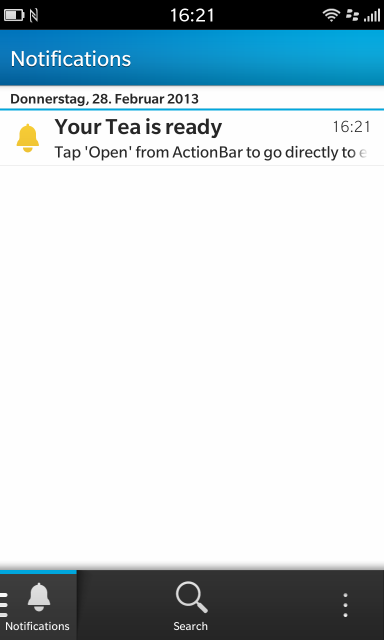 notification in hub
